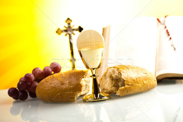 Holy communion, bright background, saturated concept Stock photo © JanPietruszka