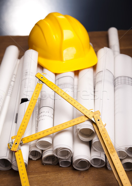 Construction Plans Stock photo © JanPietruszka