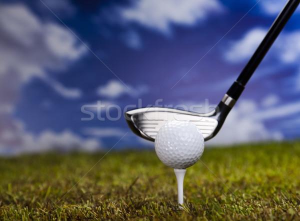 Playing golf, ball on tee  Stock photo © JanPietruszka