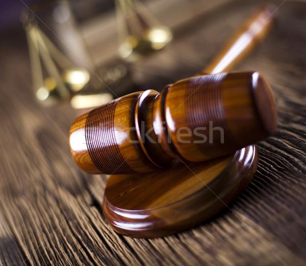 Stock fotó: Igazság · ügyvéd · bíró · bíróság · tárgy · kalapács