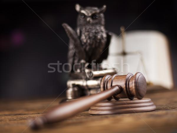 Foto stock: Gabela · justiça · legal · lei · martelo