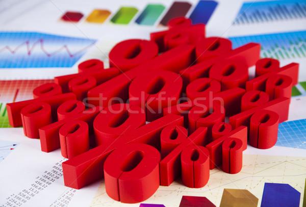 Finance concept, Percent, natural colorful tone Stock photo © JanPietruszka