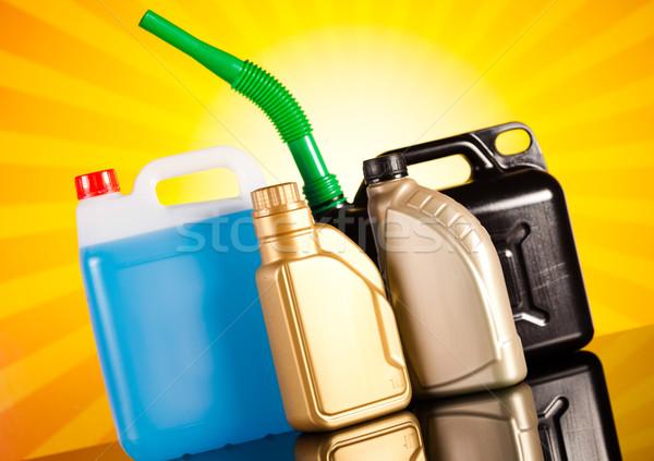 Liquids for car on vivid moto concept Stock photo © JanPietruszka