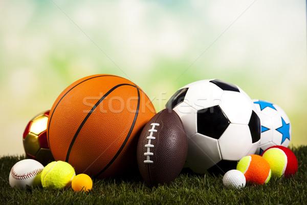 Artículos deportivos detalle naturales colorido deporte fútbol Foto stock © JanPietruszka