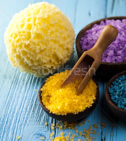 Natural bath salt, organic products, Spa Stock photo © JanPietruszka