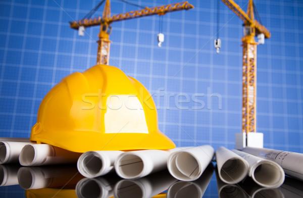 építészeti építkezés állvány üzlet épület pénzügy Stock fotó © JanPietruszka