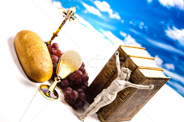 Christian holy communion, bright background, saturated concept Stock photo © JanPietruszka