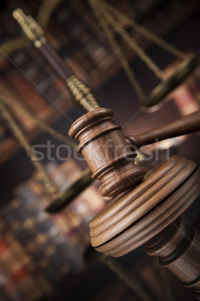 Courtroom, Law theme, mallet of the justice Stock photo © JanPietruszka