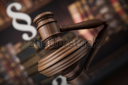 Book, Law, legal code of justice concept and paragraph sign  Stock photo © JanPietruszka