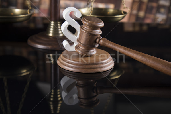 Verdict, Court gavel,Law theme, mallet of judge and paragraph si Stock photo © JanPietruszka
