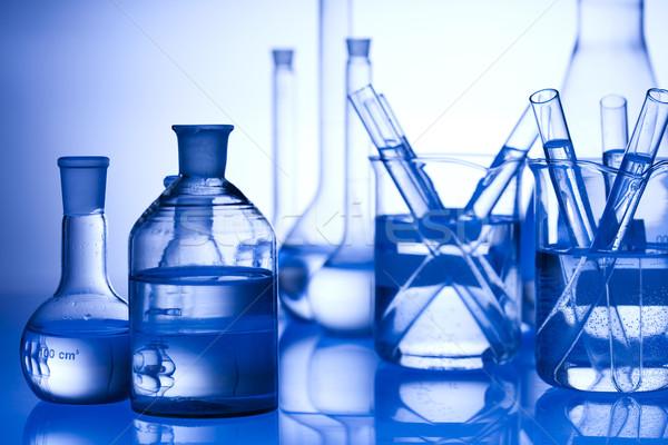 Laboratorio cristalleria tecnologia salute blu scienza Foto d'archivio © JanPietruszka
