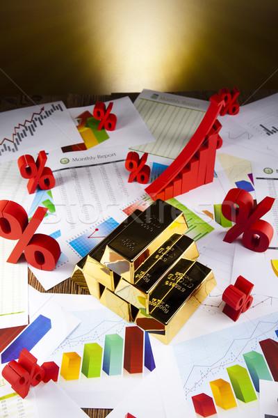 Złota wartość wygaśnięcia metal finansów rynku Zdjęcia stock © JanPietruszka