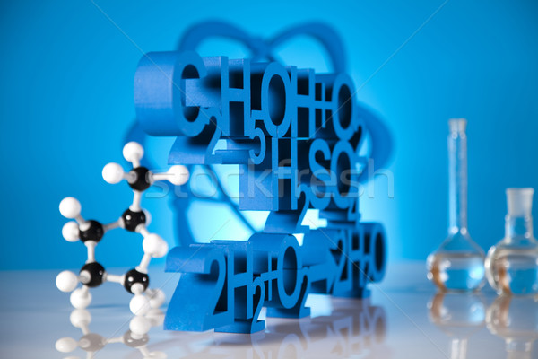 Laboratoire verre chimie science formule médecine Photo stock © JanPietruszka
