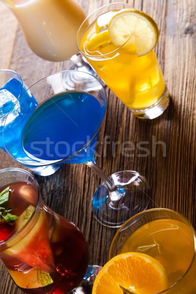Cócteles alcohol bebidas frutas alimentos naranja Foto stock © JanPietruszka