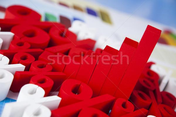 Stok fotoğraf: Yüzde · doğal · renkli · imzalamak · kırmızı · finanse