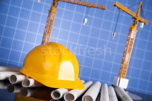 建築の 建設現場 クレーン ビジネス 建物 金融 ストックフォト © JanPietruszka