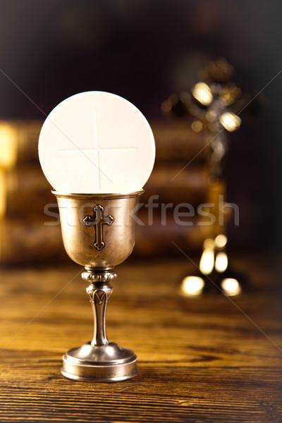 Amour religion lumineuses livre jesus église Photo stock © JanPietruszka