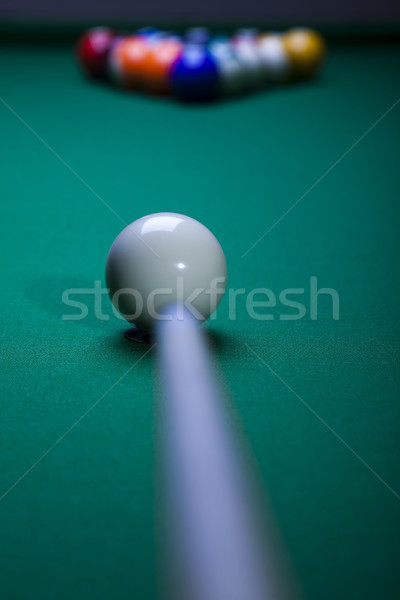 Close-up billiard balls, vivid colors, natural tone Stock photo © JanPietruszka