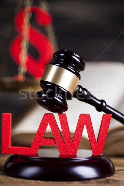 Law and justice concept, wooden gavel Stock photo © JanPietruszka