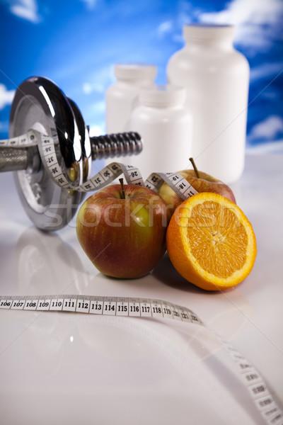 Stock fotó: Kiegészítő · sport · diéta · fitnessz · energia · kövér