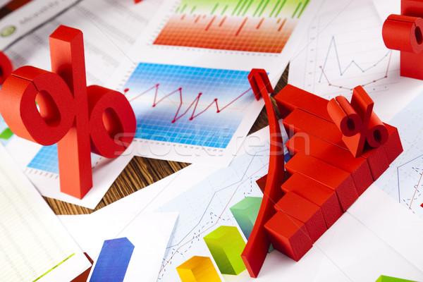üzlet diagram felirat pénzügy grafikon stock Stock fotó © JanPietruszka