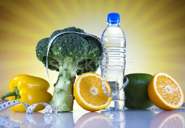 Dieet fitness voedsel vruchten gezondheid achtergrond Stockfoto © JanPietruszka
