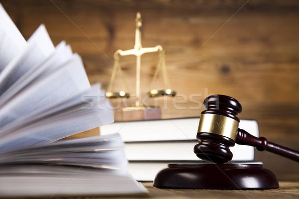 Justitie advocaat rechter rechter object hamer Stockfoto © JanPietruszka