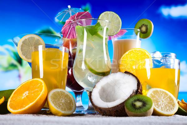 алкоголя напитки набор плодов продовольствие оранжевый Сток-фото © JanPietruszka