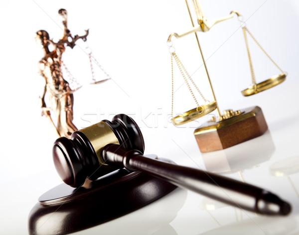 суд судья древесины правосудия адвокат преступление Сток-фото © JanPietruszka