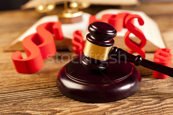 Justice paragraphe bois avocat juge crime Photo stock © JanPietruszka