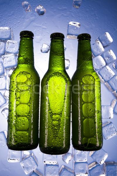 Birra ghiaccio luminoso vibrante alcol party Foto d'archivio © JanPietruszka