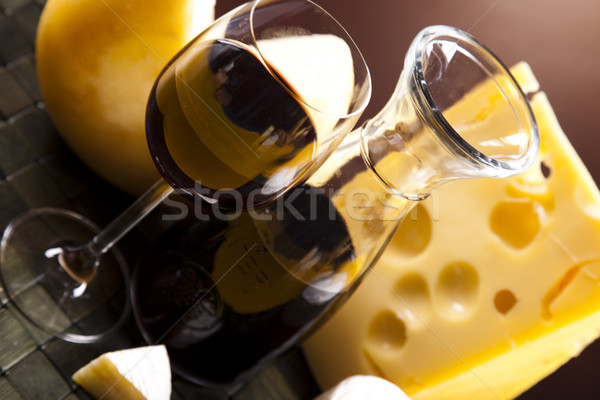 Various types of cheese, saturated ambient rural theme Stock photo © JanPietruszka