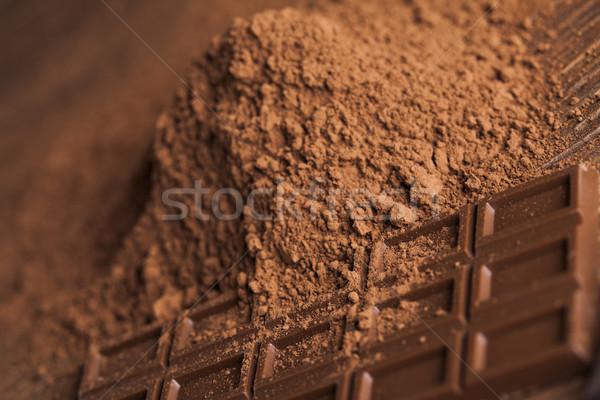 Pure chocola melk snoep zoete donkere eigengemaakt Stockfoto © JanPietruszka