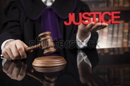 裁判所 裁判官 法廷 男性 黒 ミラー ストックフォト © JanPietruszka