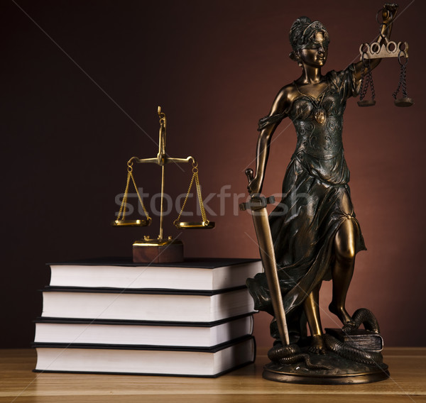 Antique statue of justice, law Stock photo © JanPietruszka