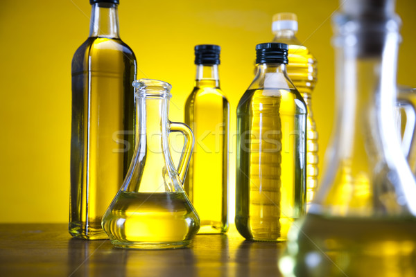 Fresh olives, olive oil  Stock photo © JanPietruszka