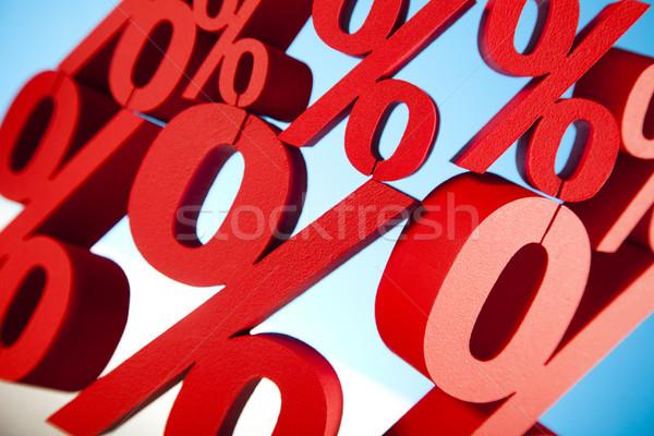 Pourcentage affaires signe rouge banque succès Photo stock © JanPietruszka