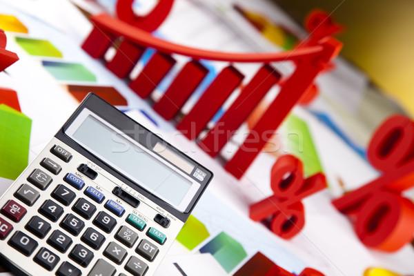 üzlet grafika felirat pénzügy grafikon diagram Stock fotó © JanPietruszka