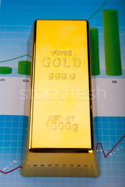 золото баров линейный графа финансовых деньги Сток-фото © JanPietruszka