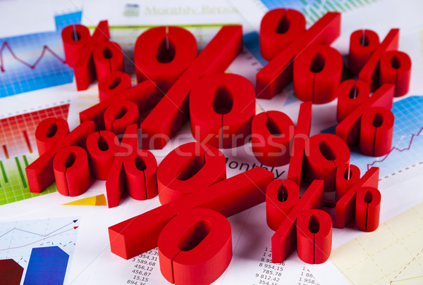 Stock photo: Percent sign , natural colorful tone