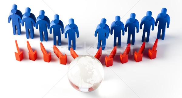 Teamarbeit Sitzung natürlichen farbenreich Business Männer Stock foto © JanPietruszka