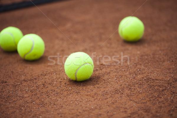 Sport tennisracket achtergrond sport aarde Stockfoto © JanPietruszka