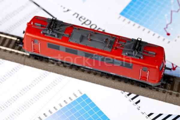 Eski lokomotif parlak renkli oyuncak Stok fotoğraf © JanPietruszka