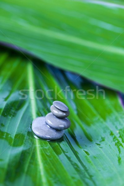 Stockfoto: Stilleven · steen · zen · magisch · atmosfeer · abstract