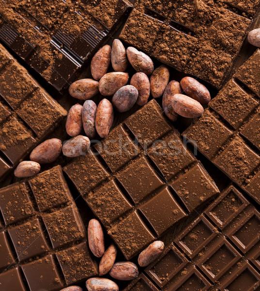 çubuklar çikolata şeker tatlı tatlı gıda Stok fotoğraf © JanPietruszka