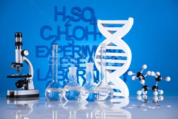 Kutatás kémia képlet gyógyszer tudomány üveg Stock fotó © JanPietruszka