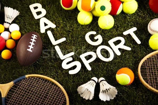 Oyun spor malzemeleri doğal renkli spor futbol Stok fotoğraf © JanPietruszka