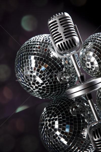 Microfone vinil registro discoteca música Foto stock © JanPietruszka