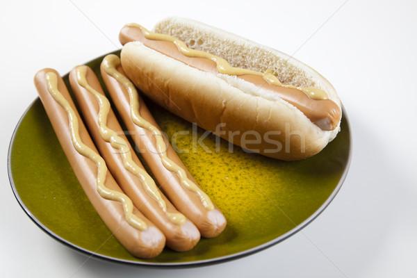 Izolált hot dog fényes színes élénk háttér Stock fotó © JanPietruszka