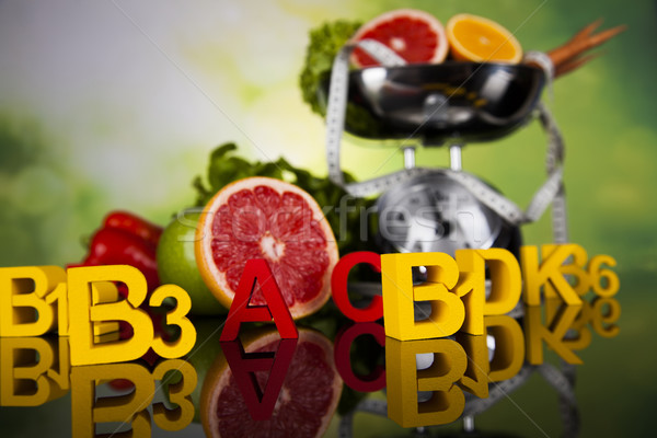 Vitamina salud fitness fruta fresca vegetales deporte Foto stock © JanPietruszka